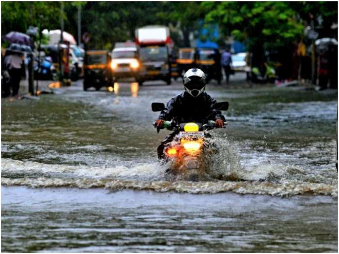 monsoon in mumbai: heavy rain in mumbai water logging and local stopped, see photos