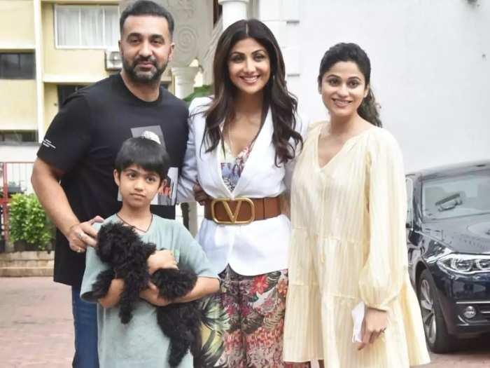 actress shamita shetty wore cute yellow colour short stylish dress on sister shilpa shetty birthday in marathi