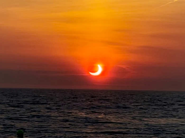 annular solar eclipse 2021 june ring of fire latest photos