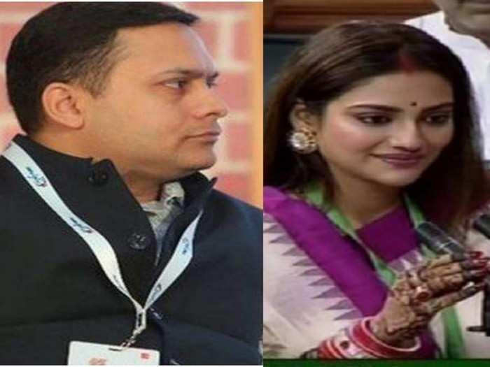 लग्न खोटं होतं मग संसदेत केलं ते काय...?, तो व्हिडिओ शेअर करत भाजप नेत्याचा नुसरत जहांवर निशाणा