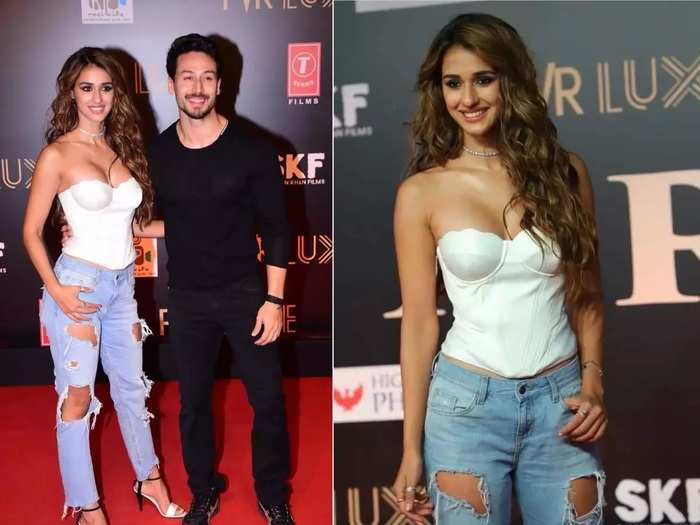 actress disha patani and tiger shroff wore super stylish outfits for dinner date in marathi