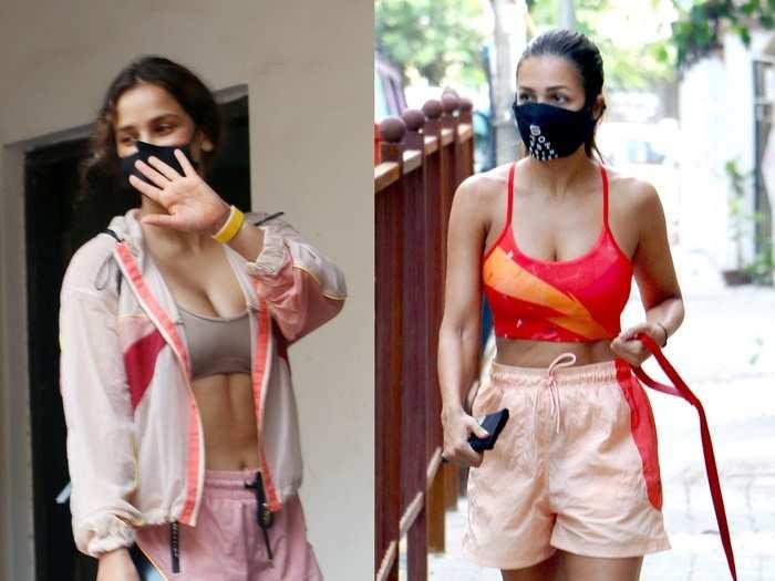 neha sharma and aisha sharma gym look is hotter than malaika arora