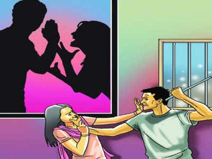 जुन्या भांडणाच्या रागातून पतीची बायकोसह, मेव्हणी आणि सासूला मारहाण; गुन्हा दाखल