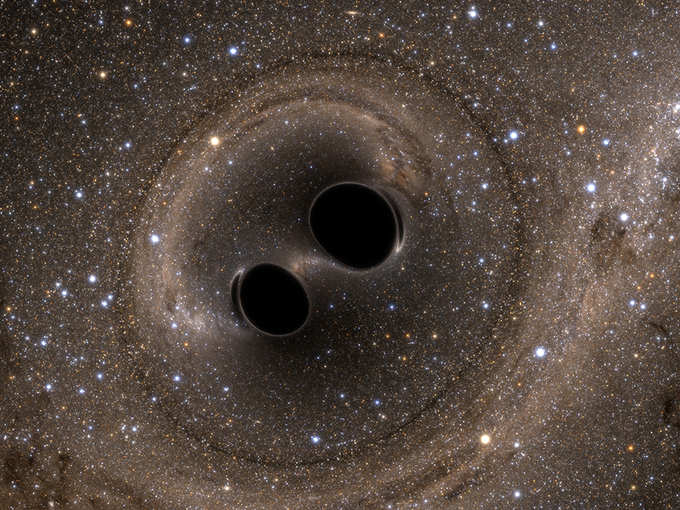 Did the waves come from the black hole?