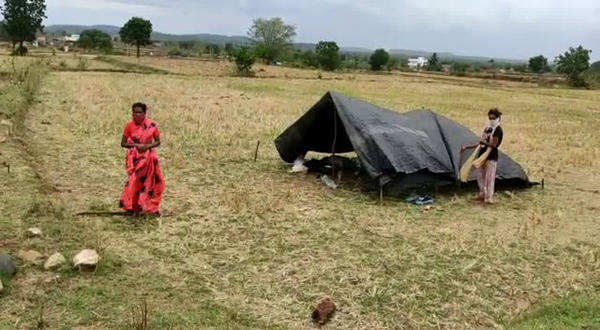 minor girl tested positive and villagers leaves at crops in rajanna sircilla district
