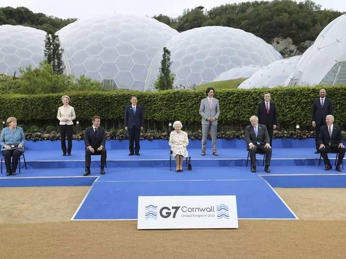 APTOPIX Britain G7.