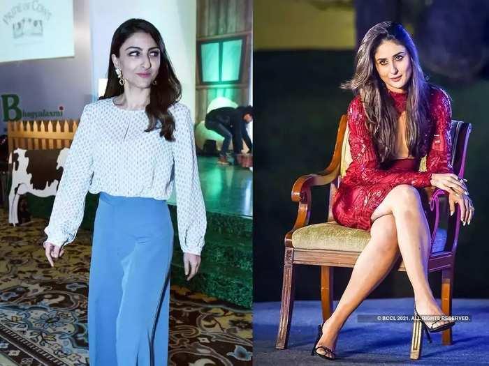 actress kareena kapoor khan looking hot in bold bodycon pattern red dress by bibhu mohapatra in marathi