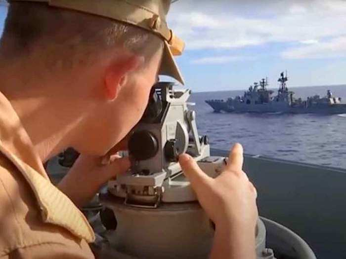 Russia navy kicks off drills