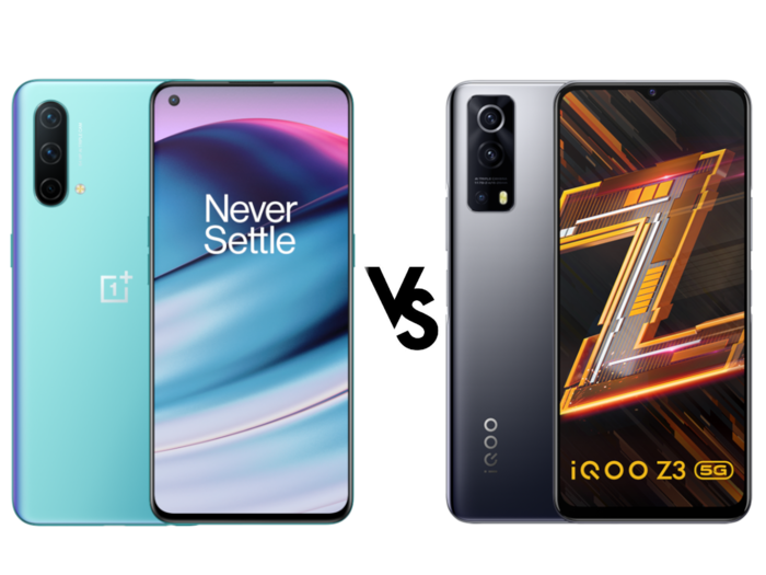 oneplus nord ce 5g vs iqoo z3 know whois better in terms of price features and specifications