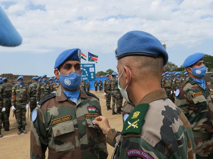 भारतीय सैनिक सम्मानित