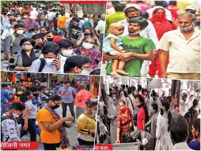 delhi unlock news markets open in delhi mumbai crowds without social distance corona guidelines corona third wave