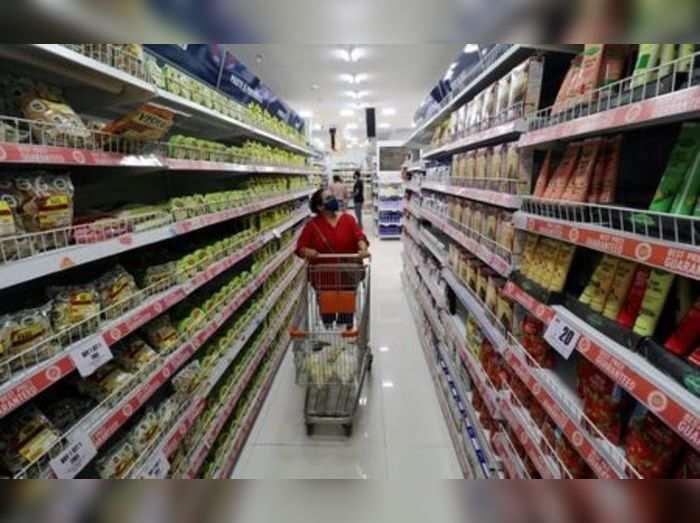 FILE PHOTO: Woman shops inside the Big Bazaar retail store in Mumbai