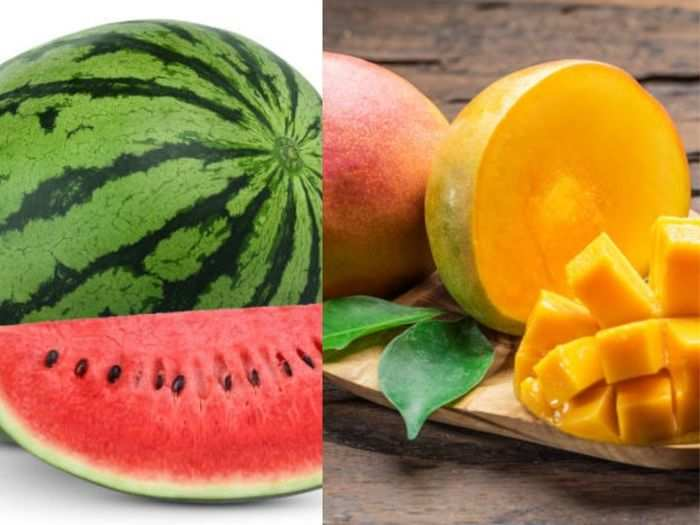 we should not keep mangoes and watermelons fruits in the fridge because it can harm to our health know the reason