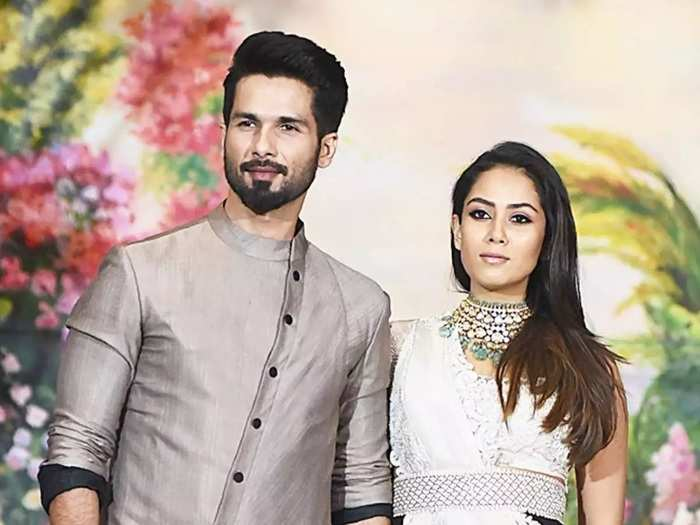 shahid kapoor wife mira rajput wore blush pink saree for priyanka chopra nick jonas wedding reception party