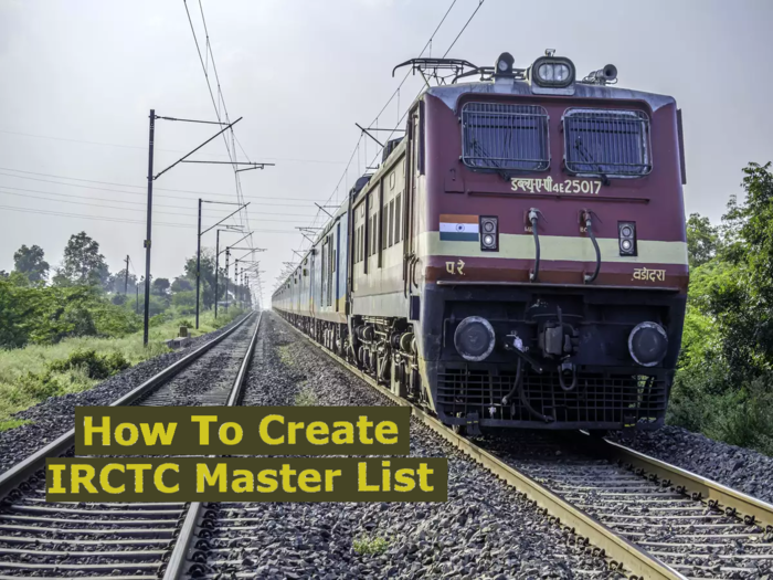 How To Create Master List In IRCTC