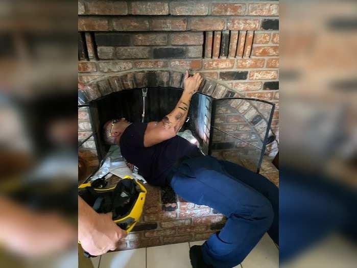 Woman Enter House Through Chimney