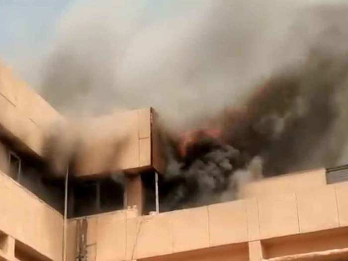मेट्रो के ऑफिस में लगी आग