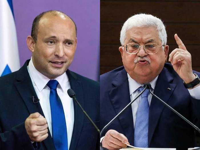 Naftali Bennett Mahmoud Abbas