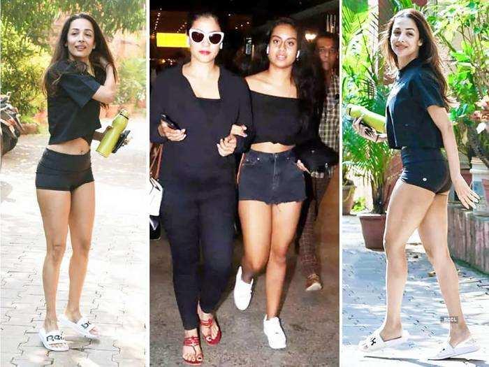 ajay devgan-kajol daughter nysa devgan looks super stylish in black crop top and shorts
