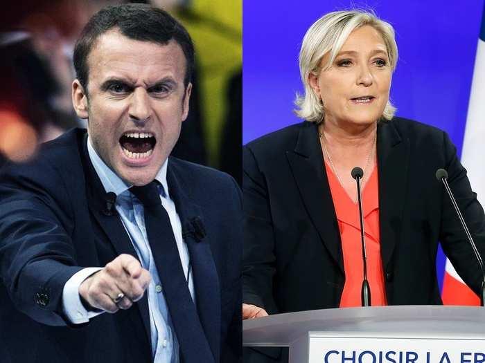 Macron marin le pen