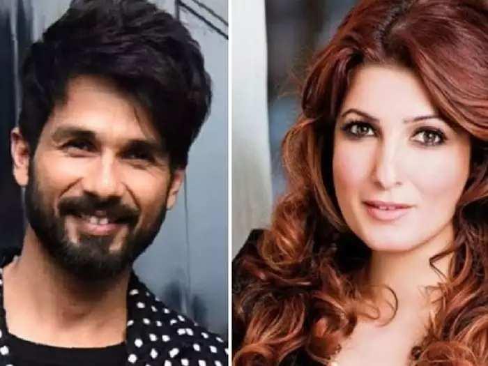 actor shahid kapoor had a big crush on akshay kumar wife twinkle khanna in his teenager