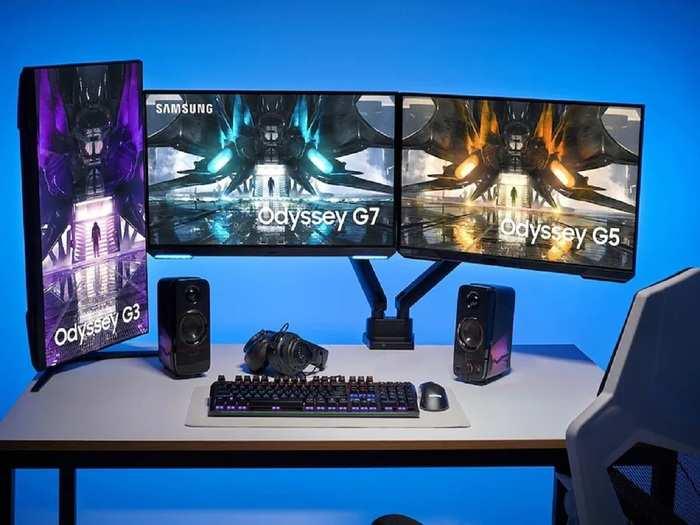 Samsung New Gaming Monitors Odyssey G3 G7 G5 price Specs