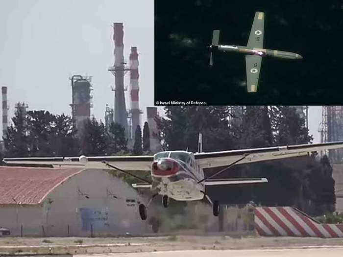 watch video israel first time uses airborne high power laser weapon to shoot down drones
