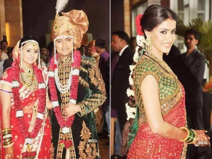 actor riteish deshmukh wife genelia dsouza wore designer lehenga for dhiraj deshmukh wedding