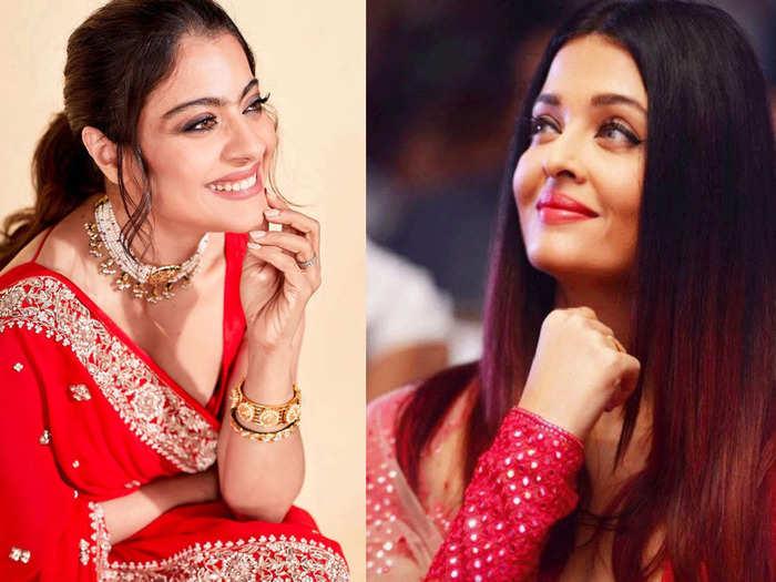 kajol to aishwarya rai bollywood actresses who are good at acing the red dress game