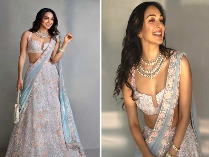kiara advani looks beautiful in heavy embriodery pink lehenga you can carry for wedding