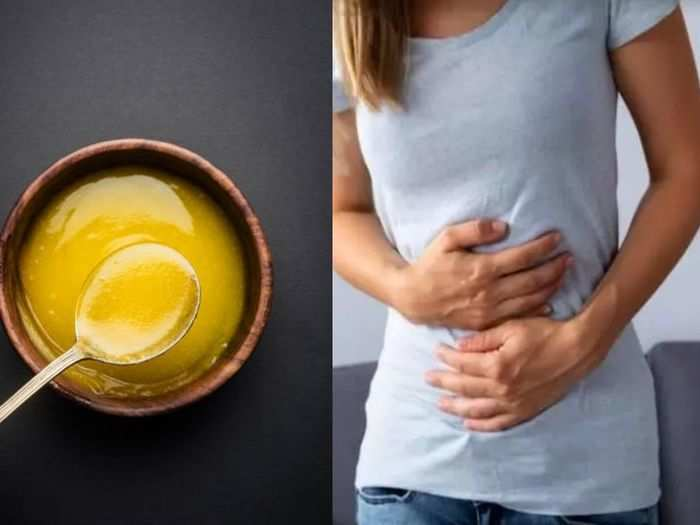 having 1 spoon ghee with hot water or warm water can ease constipation home remedies know its health benefits