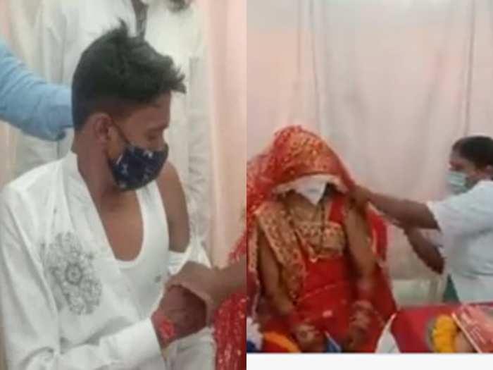 groom bride vaccinated viral video