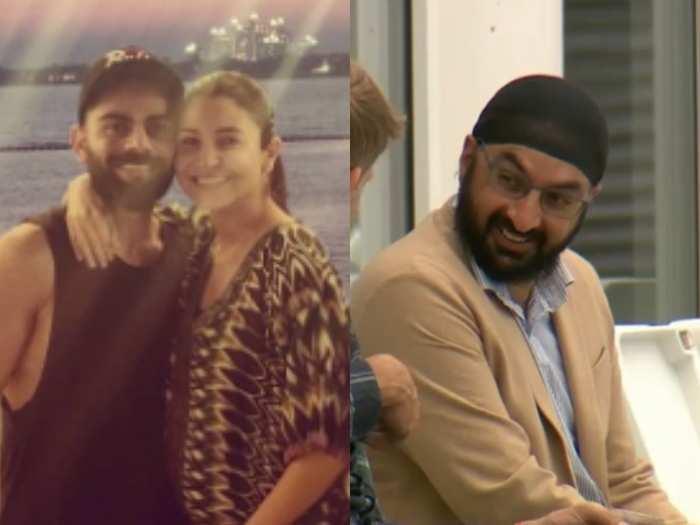 Virat, Anushka and Monty Panesar
