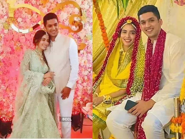 sana sayyad haldi and mehendi ceremony photos viral on internet to tie knot with boyfrined imaad shamsi on 25 june
