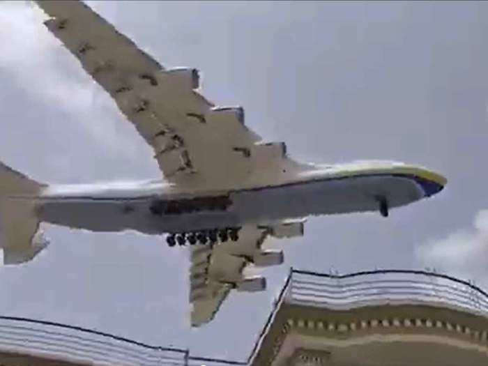 largest cargo plane lands at Karachi