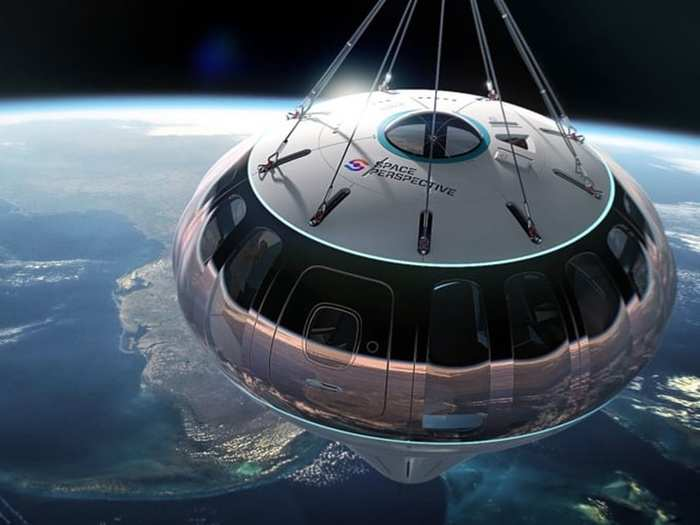 space tourism hot air balloon fly passengers to edge of space with tickets price 125000 dollar per person