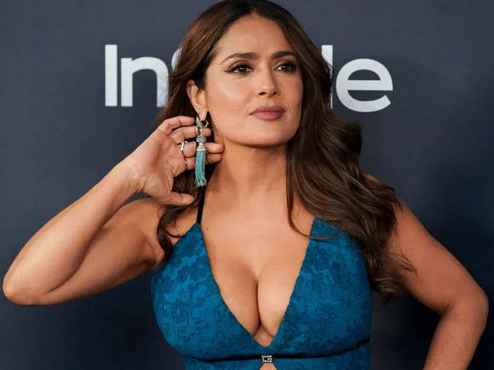 salma hayek opens about her growing breasts and says they are natural