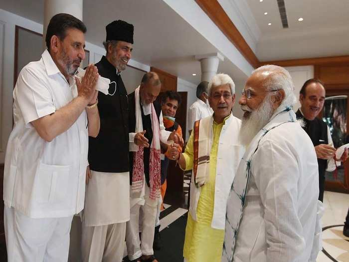 pm meeting with the leaders of j&k is over... know who said what