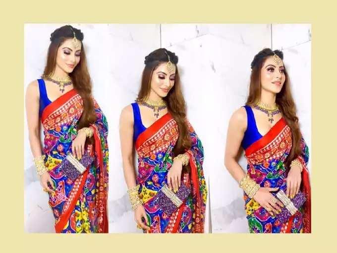 Urvashi Rautela Stunning Patola Saree Look Worth 58 Lakh Rupees Manoj Kumar Granddaughter Wedding - ५८ लाख रूपये नव्हे तर अभिनेत्रीच्या 'या' साडीची एवढी आहे किंमत, साडी तयार करण्यासाठी लागले तब्बल ६ महिने   Maharashtra Times