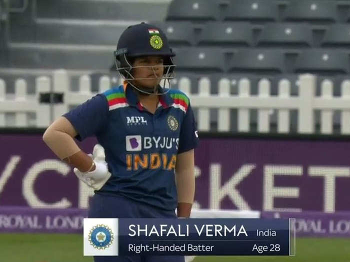 fans troll broadcasters and bcci for goofing shafali verma age indw vs engw watch twitter reaction