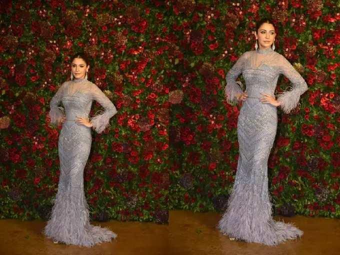 Anushka Sharma Wore Bold And Glamorous Gown For Ranveer Singh Reception Party - एक्स बॉयफ्रेंडच्या रिसेप्शन पार्टीमध्ये पोहोचली अनुष्का शर्मा, अभिनेत्रीच्या बॉडी फिटिंग गाउनकडेच खिळल्या साऱ्यांच्या नजरा   Maharashtra Times