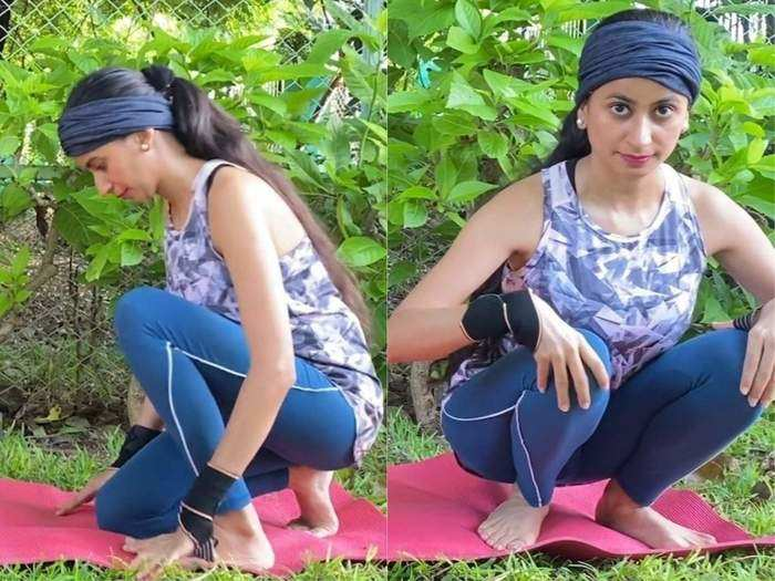 how to do step by step bakasana and crow walking pose and benefits of its for constipation knee pain