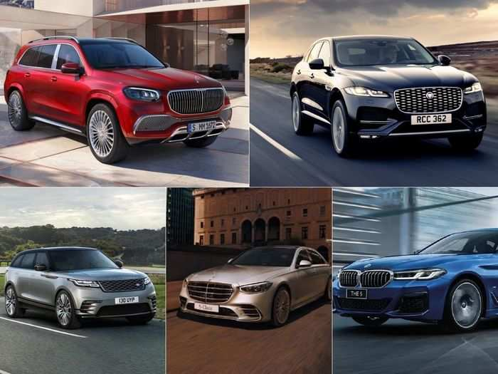 2021 bmw 5 series facelift to 2021 jaguar f-pace to 2021 range rover velar to 2021 mercedes-benz s-class to mercedes-maybach gls 600 to lamborghini huracan evo rwd spyder here are six premium cars that launched