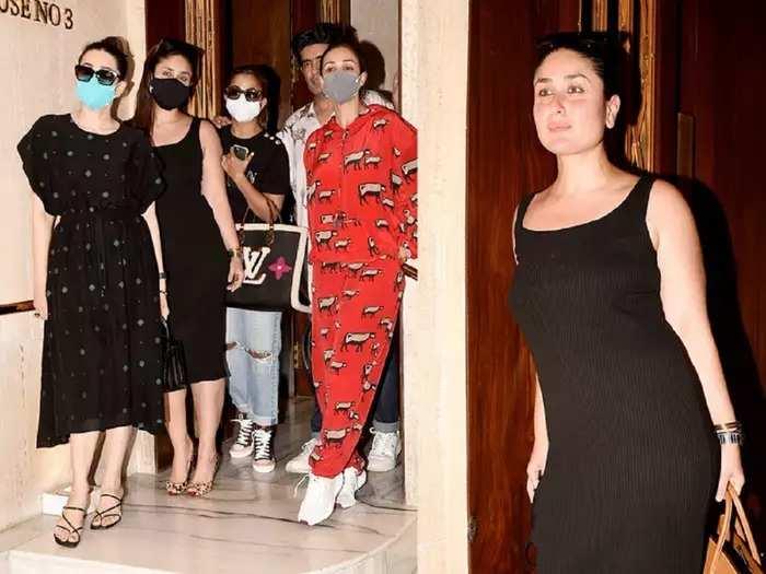 kareena kapoor neetu kapoor malaika arora party with manish malhotra riddhima kapoor wore bold all black gown
