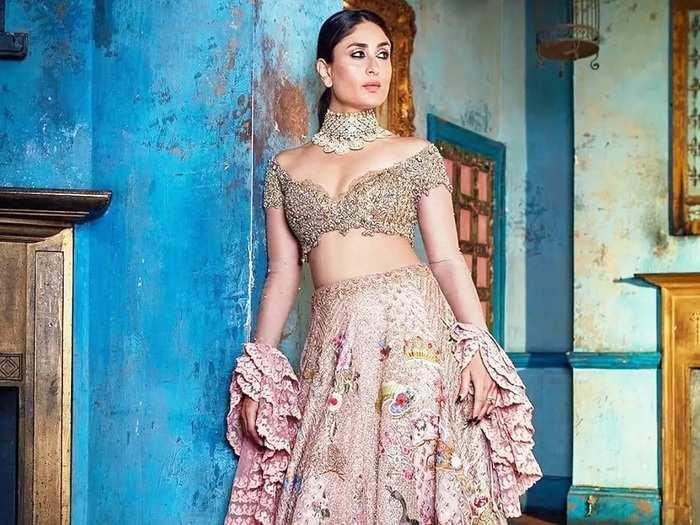 kareena kapoor khan wore bold designer lehenga for soha ali khan and kunal khemu wedding