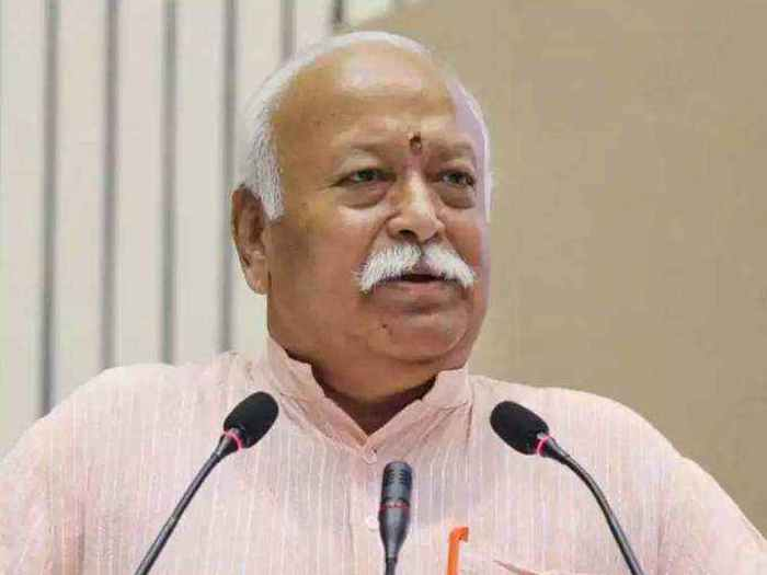 RSS Chief Mohan Bhagwat, File Pic