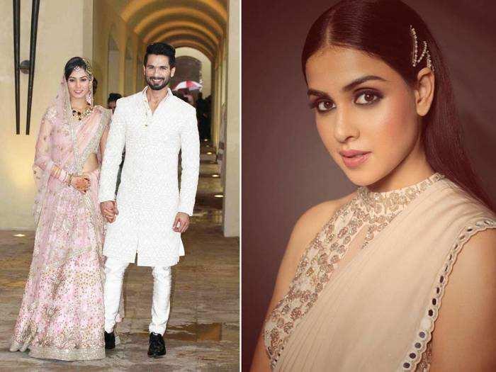 genelia dsouza looks drop dead gorgeous for shahid kapoor mira rajput wedding reception