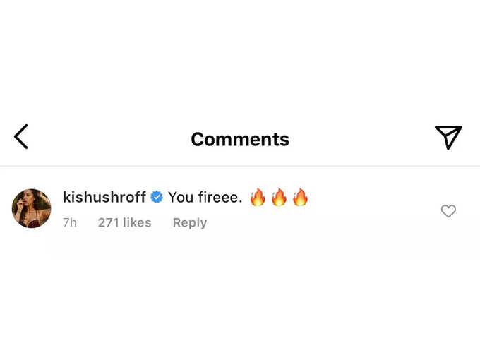Krishna Shroff Comment