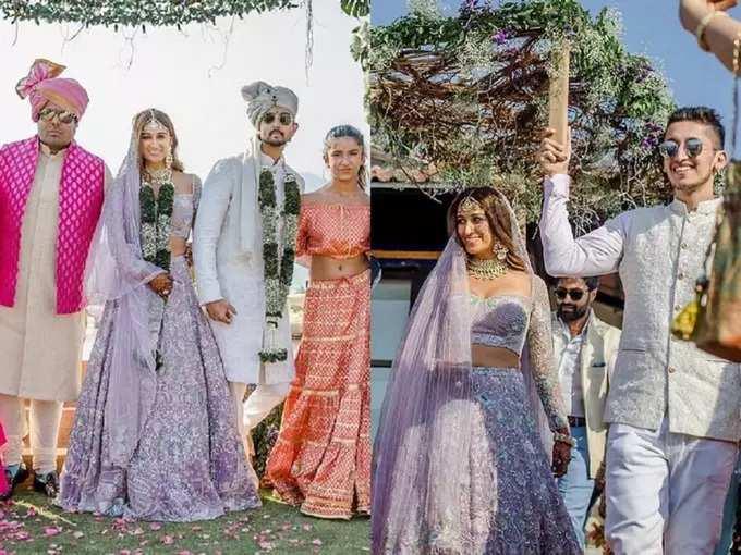 shaza morani glamorous bridal lehenga: श्रद्धा कपूरच्या वहिनीने लग्नात मोडली जुनी परंपरा, लाल रंगाच्या नव्हे तर 'या' आकर्षक कपड्यांमध्ये दिसली नववधू