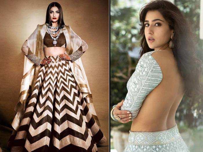 fashion faceoff sara ali khan wore similar lehenga to one sonam kapoor wore in veere di wedding